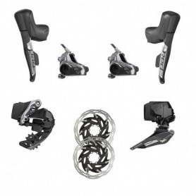 Grupo Sram Red e-Tap AXS 2x freno disco Flat Mount